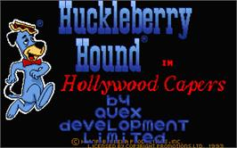 Title screen of Huckleberry Hound in Hollywood Capers on the Atari ST.