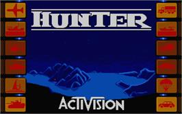 Title screen of Hunter on the Atari ST.