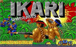 Title screen of Ikari Warriors on the Atari ST.