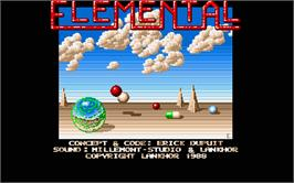 Title screen of Immortal on the Atari ST.