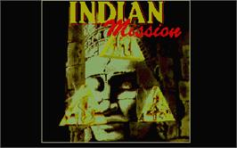 Title screen of Indian Mission on the Atari ST.