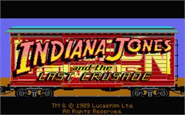 Title screen of Indiana Jones and the Last Crusade: The Graphic Adventure on the Atari ST.