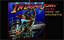 Title screen of Indiana Jones and the Temple of Doom on the Atari ST.