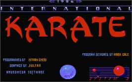 Title screen of International Karate on the Atari ST.