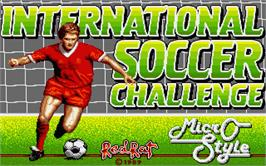 Title screen of International Soccer Challenge on the Atari ST.
