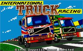 Title screen of International Truck Racing on the Atari ST.