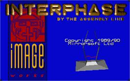 Title screen of Interphase on the Atari ST.