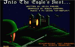 Title screen of Into the Eagle's Nest on the Atari ST.
