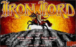 Title screen of Iron Lord on the Atari ST.