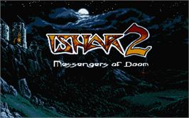 Title screen of Ishar 2: Messengers of Doom on the Atari ST.