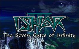 Title screen of Ishar 3: The Seven Gates of Infinity on the Atari ST.