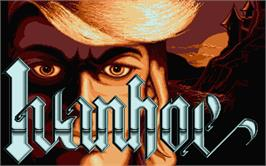 Title screen of Ivanhoe on the Atari ST.