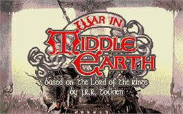 Title screen of J.R.R. Tolkien's War in Middle Earth on the Atari ST.