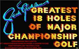 Title screen of Jack Nicklaus' Greatest 18 Holes of Major Championship Golf on the Atari ST.