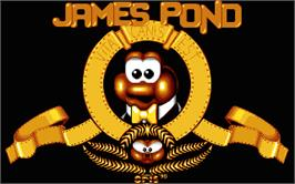 Title screen of James Pond on the Atari ST.