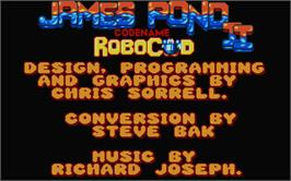 Title screen of James Pond 2: Codename: RoboCod on the Atari ST.