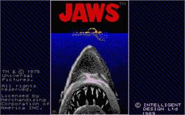 Title screen of Jaws on the Atari ST.