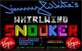 Title screen of Jimmy White's Whirlwind Snooker on the Atari ST.