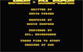 Title screen of Joe Blade on the Atari ST.