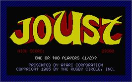Title screen of Joust on the Atari ST.