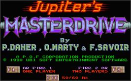 Title screen of Jupiter's Masterdrive on the Atari ST.