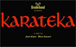 Title screen of Karateka on the Atari ST.