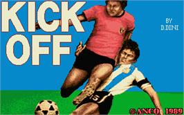 Title screen of Kick Off: Extra Time on the Atari ST.