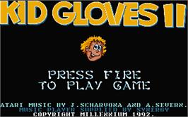 Title screen of Kid Gloves II: The Journey Back on the Atari ST.