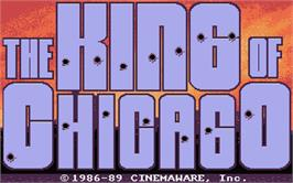Title screen of King of Chicago on the Atari ST.