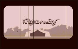 Title screen of Knights of the Sky on the Atari ST.