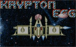 Title screen of Krypton Egg on the Atari ST.