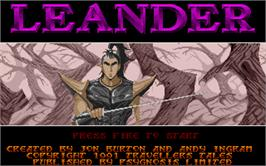 Title screen of Leander on the Atari ST.