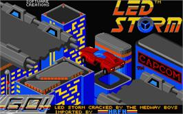 Title screen of Led Storm on the Atari ST.