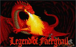 Title screen of Legend of Faerghail on the Atari ST.