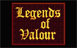 Title screen of Legends of Valour on the Atari ST.