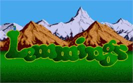 Title screen of Lemmings on the Atari ST.