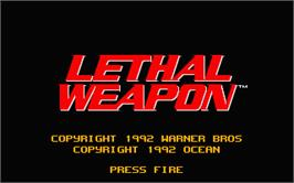 Title screen of Lethal Weapon on the Atari ST.
