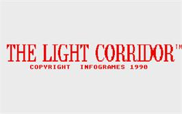 Title screen of Light Corridor on the Atari ST.