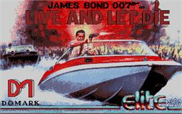 Title screen of Live and Let Die on the Atari ST.
