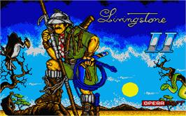 Title screen of Livingstone Supongo 2 on the Atari ST.