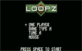 Title screen of Loopz on the Atari ST.