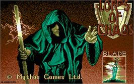 Title screen of Lords of Chaos on the Atari ST.