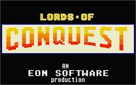 Title screen of Lords of Conquest on the Atari ST.