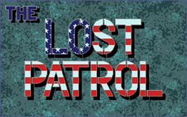 Title screen of Lost Patrol on the Atari ST.