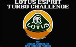 Title screen of Lotus Esprit Turbo Challenge on the Atari ST.