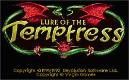 Title screen of Lure of the Temptress on the Atari ST.