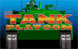 Title screen of M1 Tank Platoon on the Atari ST.
