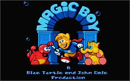 Title screen of Magic Boy on the Atari ST.