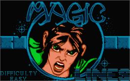 Title screen of Magic Lines on the Atari ST.