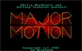 Title screen of Major Motion on the Atari ST.